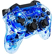 PDP - Nuevo Mando Wireless Afterglow, Color Azul (PS3, PC)