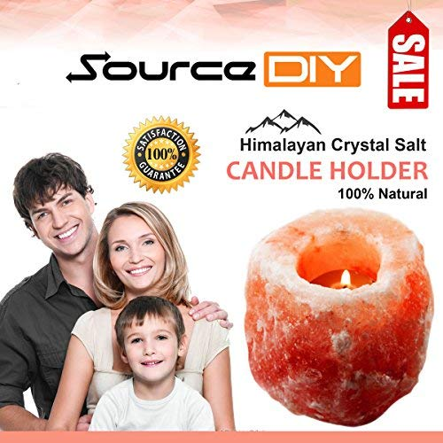 SourceDIY PACK OF 4,8,16,24 NATURAL PINK HIMALAYAN CRYSTAL ROCK SALT CANDLE HOLDER AND FINE QUALITY
