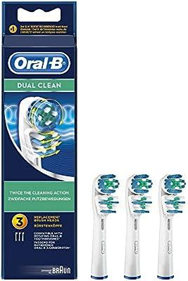Oral-B Dual Clean - Cabezal de recambio, 3 unidades