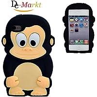 Demarkt Affe Schutzhülle Hülle für iPhone 4 4S Case Silikon Affe Cover Schwarz