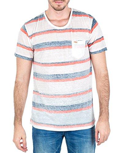 M.O.D Herren T-Shirt SP15-TS697-1 Blau (Navy/ Desert flower stripe 1223)