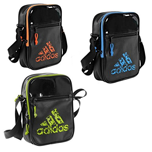 Adidas borsa a tracolla, unisex, umhängetasche, nero/arancione, xs