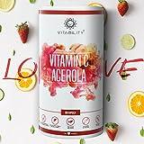 Natürliches Vitamin C Acerola OHNE künstliche Zusätze | 180 vegane Kapseln | 1800mg hochdosiertes Acerola mit 25% Vitamin C Gehalt pro Tagesdosis | Made In Germany