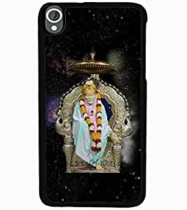 ColourCraft Lord Sai Baba Design Back Case Cover for HTC DESIRE 820