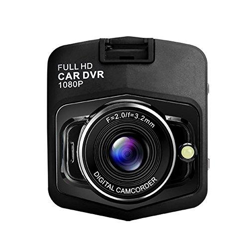 Pretty jin auto data recorder fotocamera 1080p hd auto arrestare monitoraggio registratore visione notturna con fotocamera grandangolare mini auto, nero