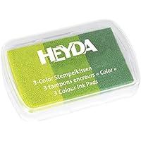 Heyda 204888463 3-Color Stempelkissen 9 x 6 cm (Grüntöne)