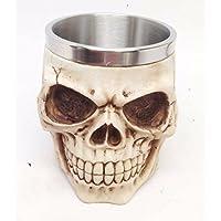 SSBY New 3D CRANIO tazza in acciaio inox tazza da caffè cranio ghost TOU Shui (Personalizzata Cucchiaio Da Bambino)