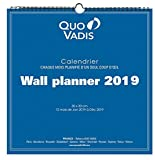 Quo Vadis CALENDRIER WALL PLANNER 30x30cm Année 2019