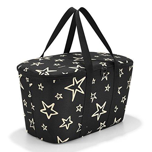 Reisenthel Coolerbag Stars, poliéster, negro, 44.5x 25cm