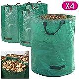 AllRight Gartensack 4X 272 Liter Gartenabfallsäcke Laubsäcke Polypropylen-Gewebe (PP) Selbststehende und Faltbare Laubsäcke (4 * 272 Liter)