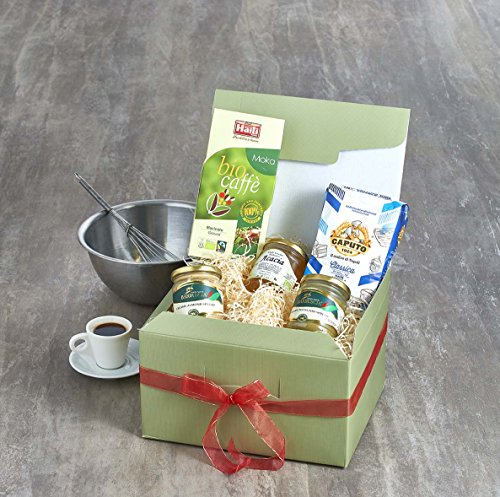 Italian Breakfast Kit Caputo Extra Fine '00' Flour (1kg) Organic Fairtrade Arabica Coffee (250g) Organic Acacia Honey (500g) Sweet Sicilian Almond Spread (212ml) Sweet Sicilian Pistachio Spread (212ml)