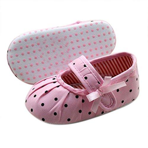 Bolinhas Do Rosa Células Berço soft De Flats De De Banda Prata Única Bebê Desenhada Sapatos De 6RPgXn