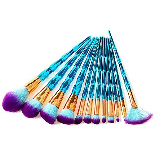 Efforty Einhorn Make Up Pinsel Set Professionelle Kosmetik Make up Bürsten Pinsel Kit für...