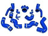 Autobahn88 Ladeluftkühler Silikon Schlauch Kit, modell ASHK51-BL-WC (Blau - mit Klammer-Set)
