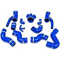 Autobahn88 Ladeluftkühler Silikon Schlauch Kit, modell ASHK51-BL (Blau - ohne Klemme)