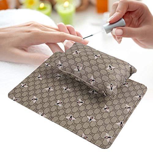 Maniküre-Werkzeugset Handkissen für Handkissen Abnehmbar und waschbar(Abeille Vert Olive) -