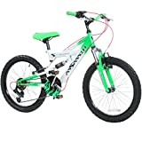 20 Zoll Kinder Mountainbike Concept Assassin Fully 2 Größen 4 Farben vollgefedert, Farbe:Grün;Radgröße:20 zoll