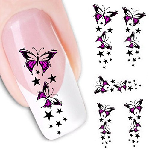 Tonsee® L'eau transfert diapositive Sticker Decal Nail Art Tips pieds