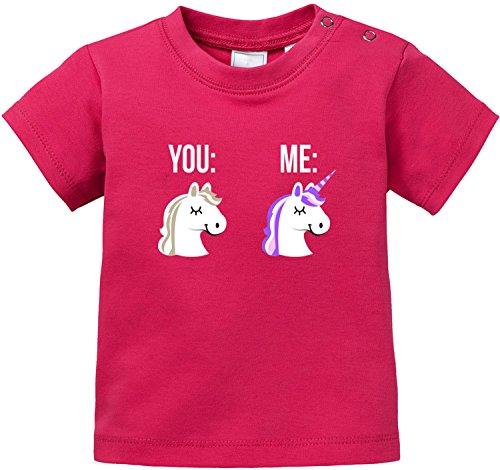 EZYshirt Einhorn Baby T-Shirt Bio Baumwolle (Bonnie Und Clyde Kostüme Für Kinder)