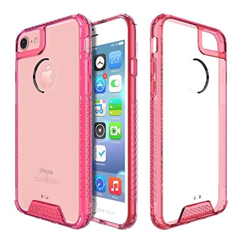 AIR HYBRID ACRYLIC & TPU MOBILE CASE FOR APPLE IPHONE 6 / IPHONE 7 /IPHONE 8 GREY PINK
