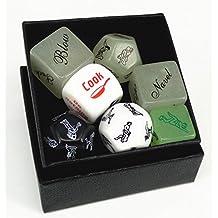 novedad Sex juego de dados para adultos parejas amantes, varias posiciones sexuales, Foreplay opciones, empaquetado caja para hacer el regalo perfecto de Navidad o upscale juguete.