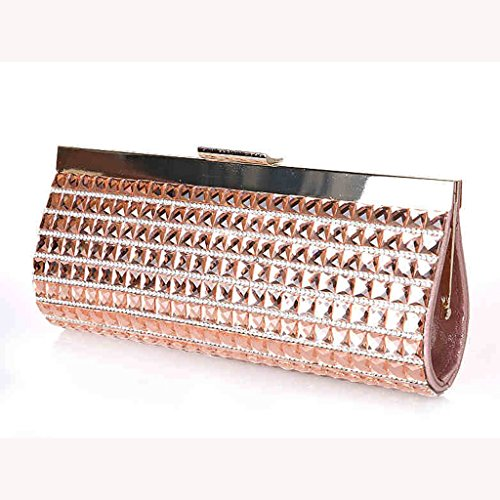 La borsa borsa da sera di banchetto della sposa della frizione moda sacchetto nuovo pacchetto di diamante ( Colore : Blu navy ) Champagne