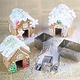 alley.L Metall Kuchen Plätzchen Dekorieren Ausstechformen Set Keks Formen Weihnachten Mini Haus Form Lebkuchenhaus Keksausstecher