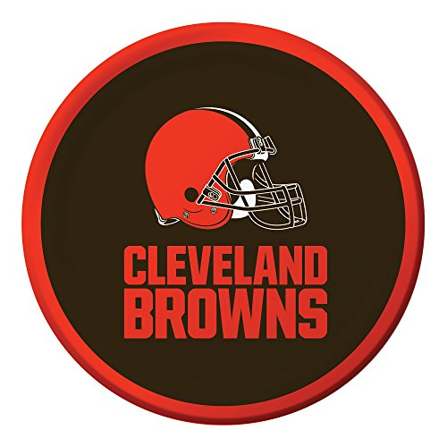 Creative Converting Officially Licensed NFL Dessert Paper Plates, 96-Count, Cleveland Browns