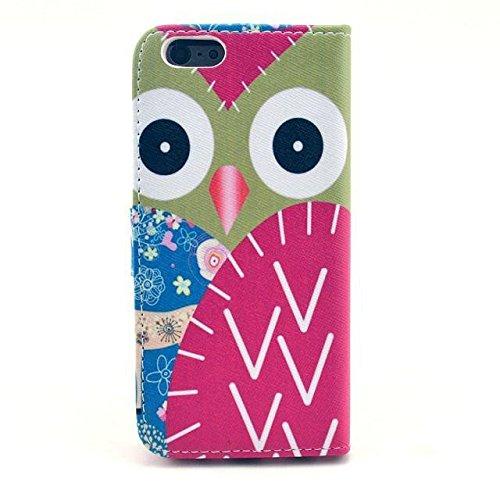 Monkey Cases® iPhone 6Plus 5,5pouces-Étui à rabat-Chouettes-Cover-Mat-Premium-Original-Nouveauté-# 3