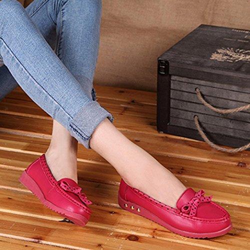 TranserDx-022 - Sandali con Zeppa da ragazza' donna Red