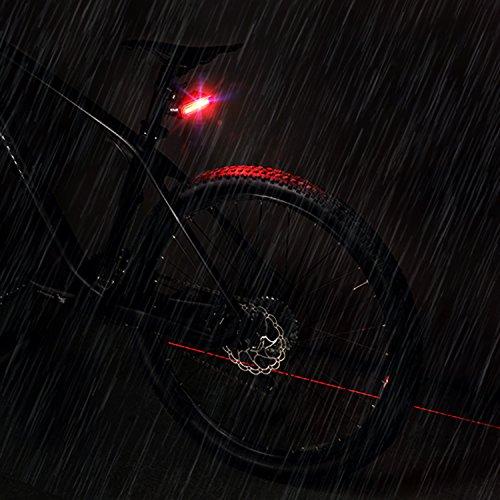 MACHFALLY Fahrradbeleuchtung, Fahrrad Licht LED USB Set mit Automatisch Einstellbarer Helligkeit, Wasserdichte Fahrradlampen inkl. Frontlicht und Ruecklicht , 1200 mAh Akku-Fahrradlampen fuer Kinder- , Herren- und Damenraeder (Frontlicht&Ruecklicht Set) - 9
