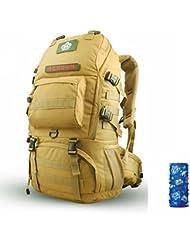 Generic Unisex exterior militar táctico mochila 50L, caqui