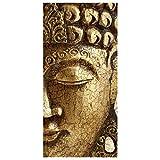 Apalis Raumteiler Vintage Buddha 250x120cm inkl. transparenter Halterung