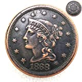 FKaiYin 1868 Antike Liberty One Cent Replik Old Coin American Lucky Old Coin - US Old Coins - Unzirulated Hobo Nickel USA Morgan Dollar Münze Future Experience -
