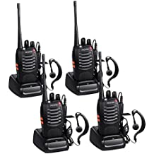 Proster Walkie Talkies - Radio de dos vías (recargable, 16 canales, 400 a 470 MHz, CTCSS DCS (2 pares)