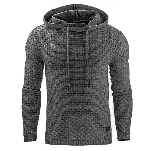 Uomo Felpa con cappuccio a Maniche Lunghe Autunno Invernale Sportivo Pullover Sweatshirt Hoodie Giacca Nero / Grigio / Bianco XS-2XL