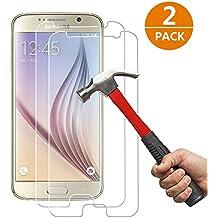 [2-Unidades] Samsung Galaxy S6 Protector de Pantalla, Y -ouni Cristal Templado Samsung Galaxy S6, Espesor 0,30 mm, 2.5D Round Edge, [9H Dureza] [Alta Transparencia] [Ultra Resistente a Golpes y Rayado] [Sin burbujas] [Ajuste Perfecto] [Garantía de por Vida] Protector Cristal Vidrio Templado para Samsung Galaxy S6