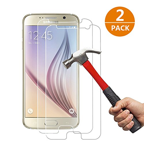 [2-Unidades] Samsung Galaxy S6 Protector de Pantalla, Y -ouni Cristal Templado Samsung...