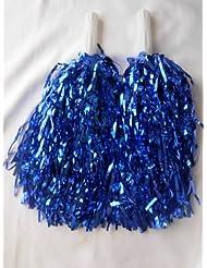 5Paar Cheerleading Pom Poms Hen Party Fancy Dress Blue