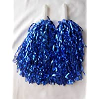 5 pares de pompones de animadoras para despedida de soltera, color azul.