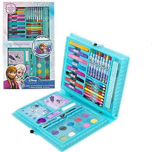 Preisvergleich Produktbild Disney Eiskönigin Frozen 52 teiliges Malset Farbpalette Kunstset mit Motiven von Elsa und Anna