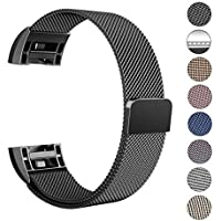 """Swees für Fitbit Charge 2 Milanese Edelstahl Armband, Small-Large (5.5""""-9.9"""")"""