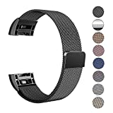 Fitbit Charge 2 Armband, Swees Milanese Edelstahl Replacement Wrist Band Strap Watchband Uhrband Uhrenarmband mit Magnet-Verschluss und Metallschließe für Fitbit Charge 2 Smartwatch Large (6.1