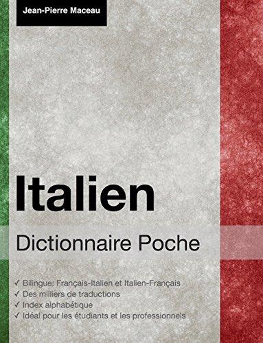 Dictionnaire Poche Italien par Jean-Pierre Maceau
