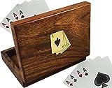 Best Cadeaux RoyaltyLane Adultes - Étui à cartes en bois pour cartes à Review