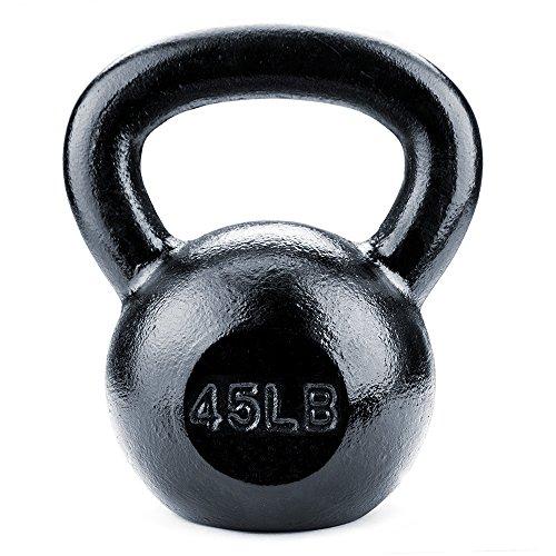 Crown Sporting Goods Schwarz Gusseisen Kettlebell Gewichte (Cap Hantel Gewicht Set)