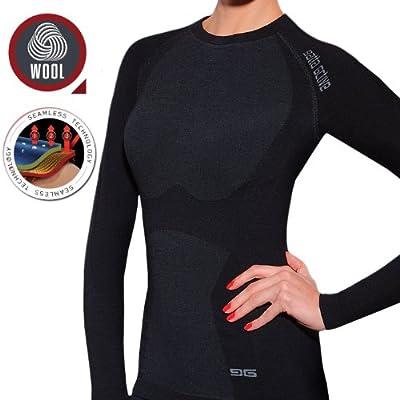 Gatta Active Damen langarm T-Shirt Merino Wolle Skiunterwäsche Thermowäsche