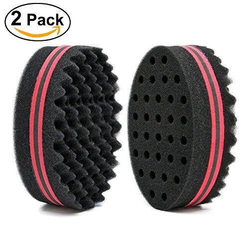 Haar Twist Schwamm Schwarz Eis Für Afro Braid, Dreadlock Spulen Curl Pinsel (4 packungen)