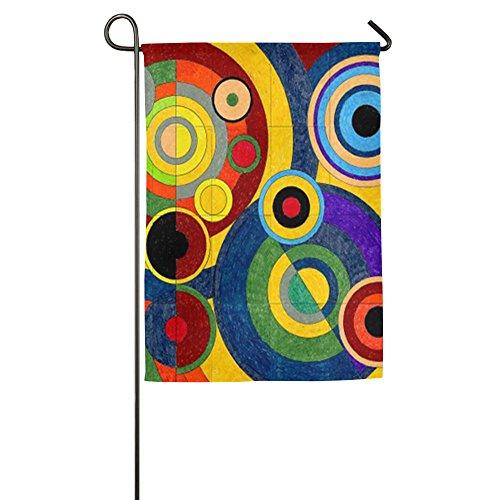 Bunte Kreis House Flaggen, dekorative Flaggen, Outdoor Flaggen, Hof Flagge, Home Flagge, weiß, 46*69 cm