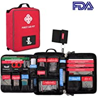 AIRSOFTPEAK First Aid Kit, 96 Pieces Molle Medical Bag Included Emergency Blanket, Bandages, CPR Set Scissors for Travel, Home, Office, Vehicle,Camping, Workplace, Outdoor